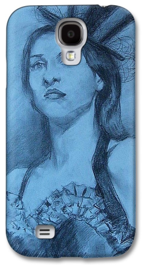 Portrait Galaxy S4 Case featuring the drawing Dolly In Costume by Debra Jones