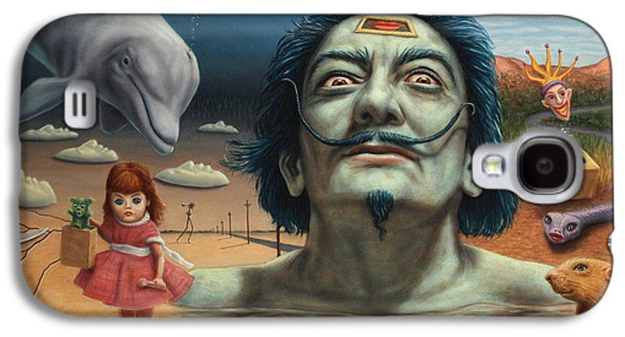 Dali Galaxy S4 Case featuring the painting Dolly In Dali-land by James W Johnson