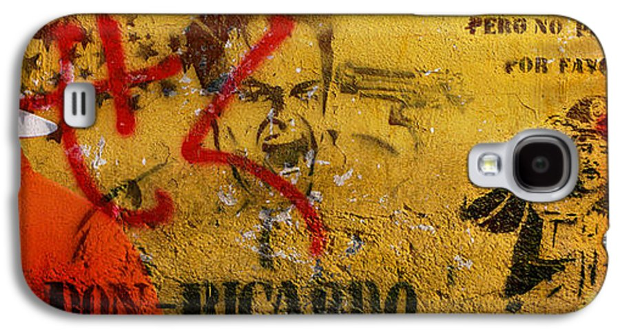 Grafitti Galaxy S4 Case featuring the photograph Don-ricardo by Skip Hunt