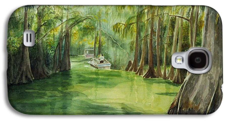 Passage Between Lakes Galaxy S4 Case featuring the painting Dora Passage by Judy Swerlick