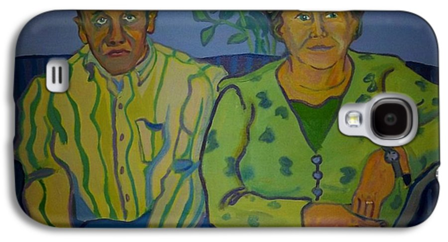 Older Couple Galaxy S4 Case featuring the painting Dottie And Jerry by Debra Bretton Robinson