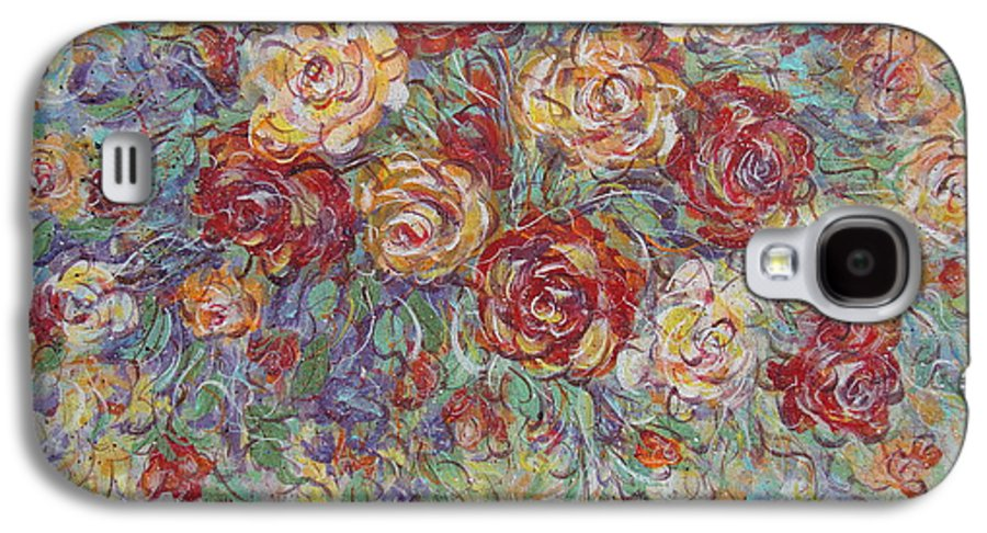 Flowers Galaxy S4 Case featuring the painting Double Delight. by Natalie Holland