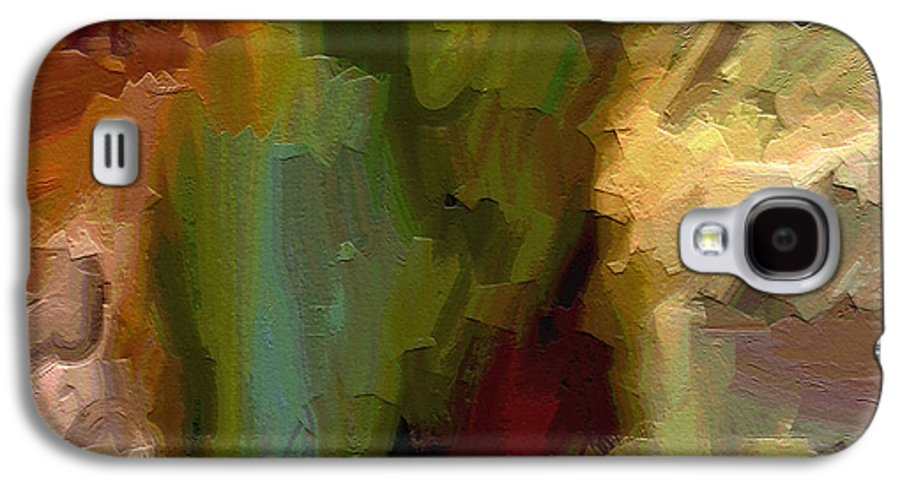 Abstract Art Galaxy S4 Case featuring the painting Double Indemnity by Ely Arsha