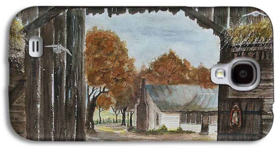 Grandpa And Grandma's Homeplace Galaxy S4 Case featuring the painting Down Home by Ben Kiger