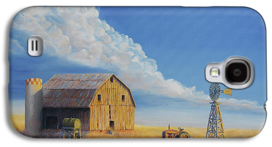 Barn Galaxy S4 Case featuring the painting Downtown Wyoming by Jerry McElroy