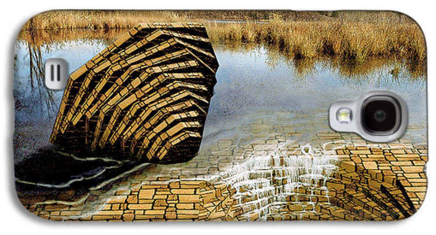 Drain Galaxy S4 Case featuring the digital art Drain - Mendon Ponds by Peter J Sucy