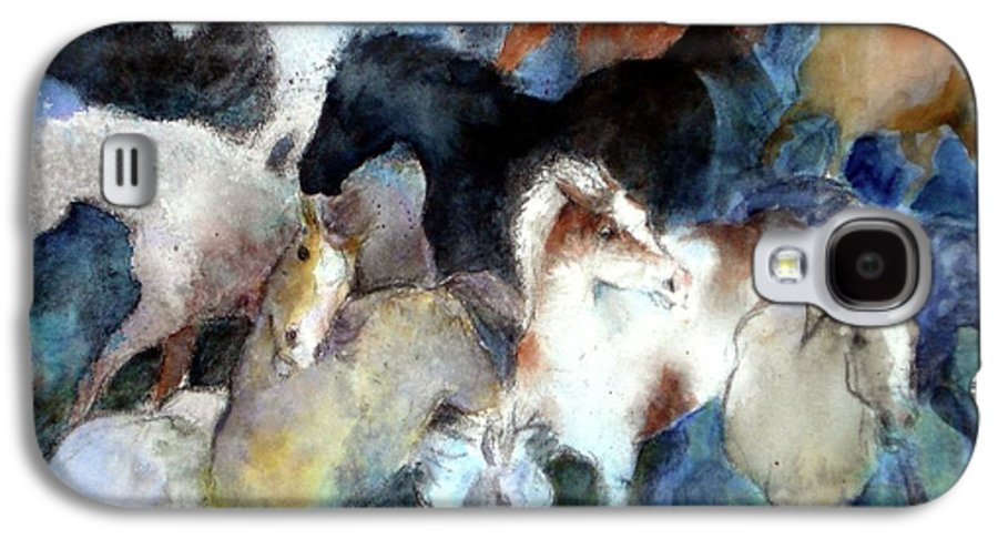 Horses Galaxy S4 Case featuring the painting Dream Of Wild Horses by Christie Michelsen