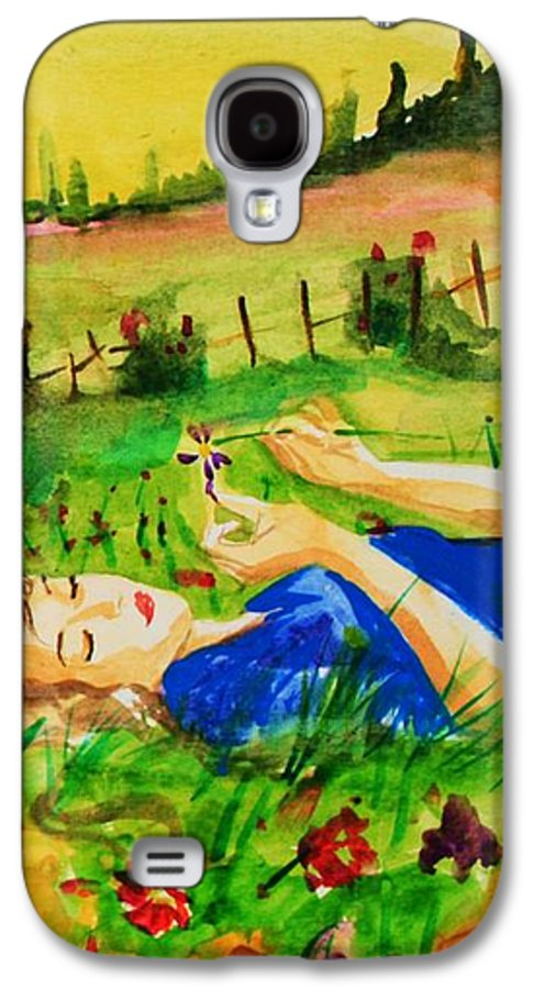 Landscape Galaxy S4 Case featuring the painting Dreaming by Laura Rispoli