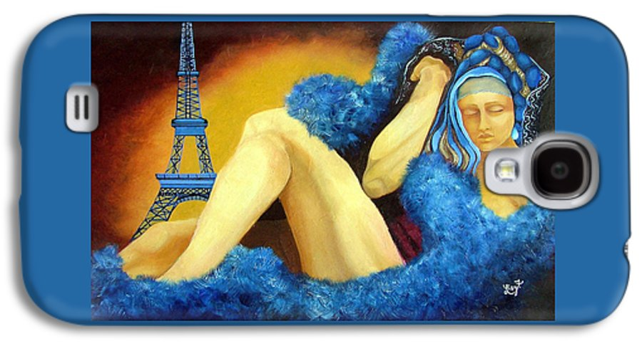 Paris Galaxy S4 Case featuring the painting Dreaming Of Paris by Elizabeth Lisy Figueroa