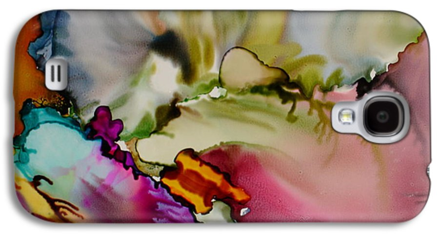 Abstract Galaxy S4 Case featuring the painting Dreaming by Susan Kubes