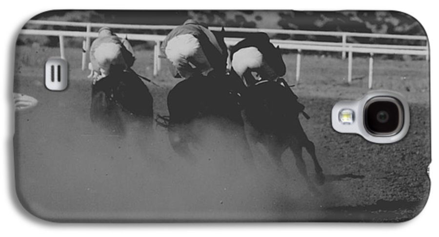 Horse Galaxy S4 Case featuring the photograph Dust And Butts by Kathy McClure
