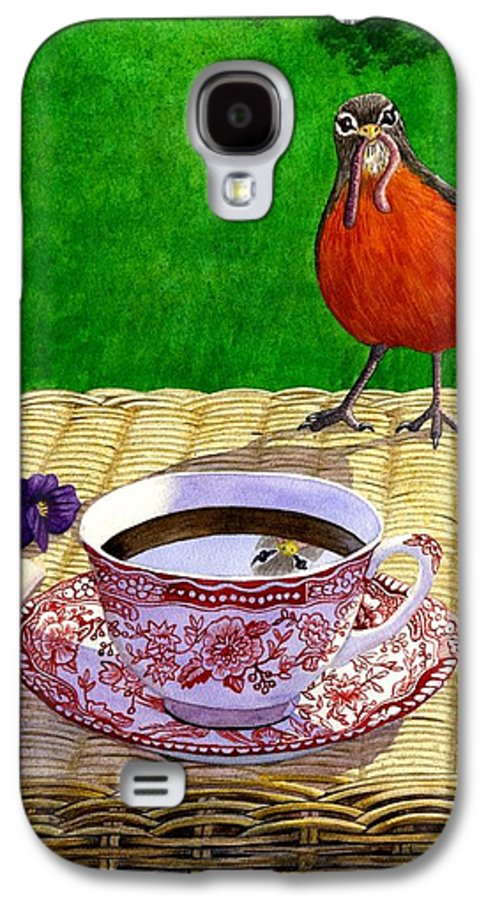Robin Galaxy S4 Case featuring the painting Early Bird by Catherine G McElroy