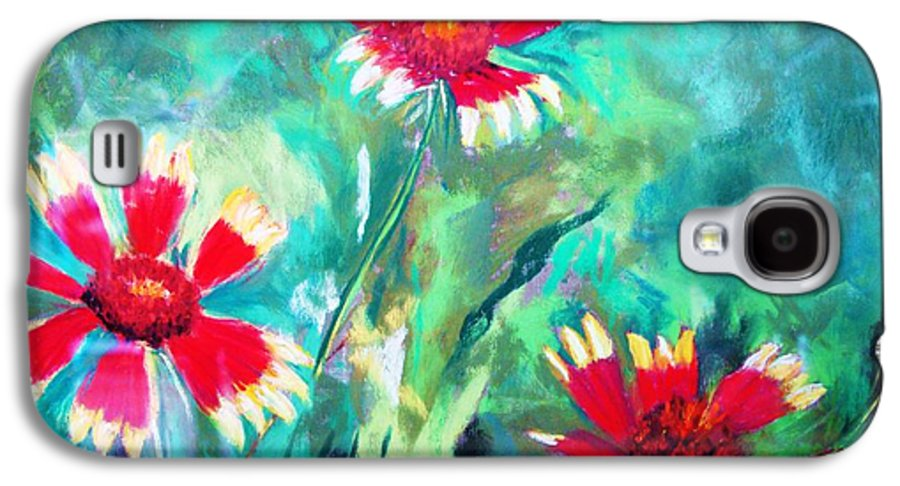 Flowers Galaxy S4 Case featuring the painting East Texas Wild Flowers by Melinda Etzold