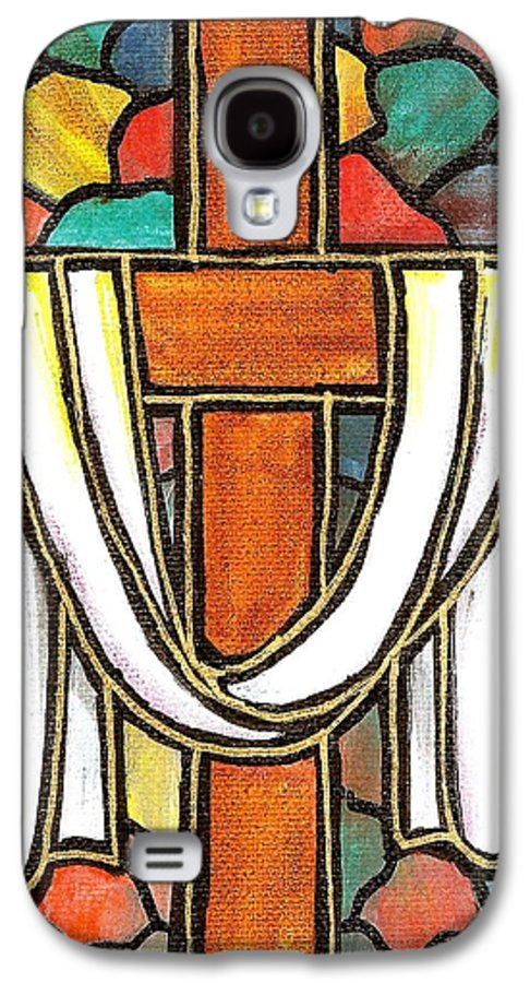Easter Galaxy S4 Case featuring the painting Easter Cross 6 by Jim Harris