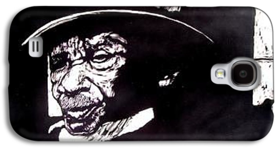 Galaxy S4 Case featuring the mixed media Ebenezer by Chester Elmore