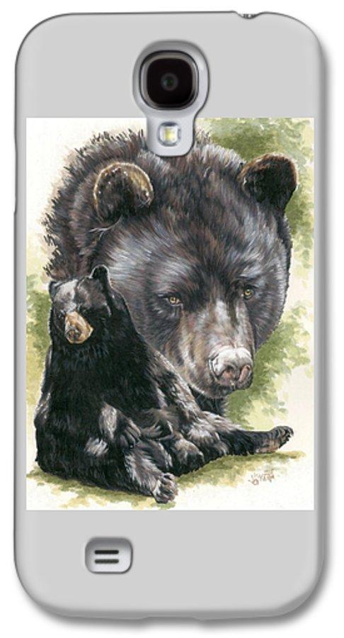 Black Bear Galaxy S4 Case featuring the mixed media Ebony by Barbara Keith