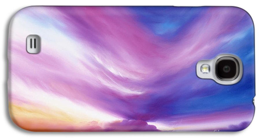 Clouds Galaxy S4 Case featuring the painting Ecstacy by James Christopher Hill