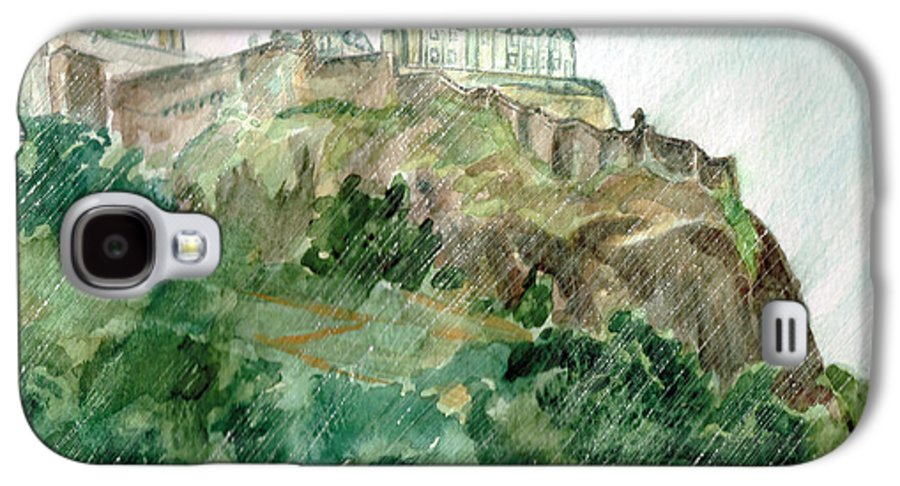 Castle Galaxy S4 Case featuring the painting Edinburgh Castle by Andrew Gillette