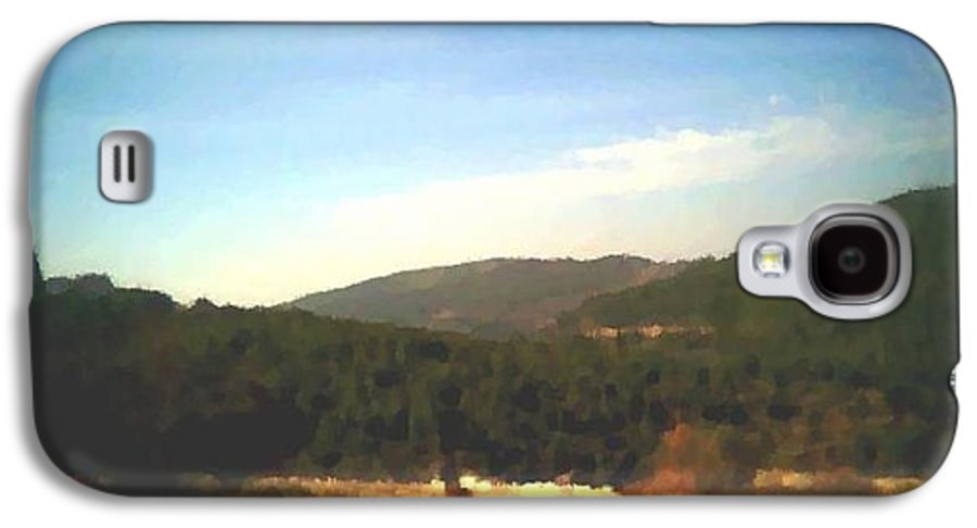 Sky.blue.little Clouds.foresty Hills.low Hills.forest.valley.trees.rest.silence.calm. Galaxy S4 Case featuring the digital art Ein-kerem Valley by Dr Loifer Vladimir