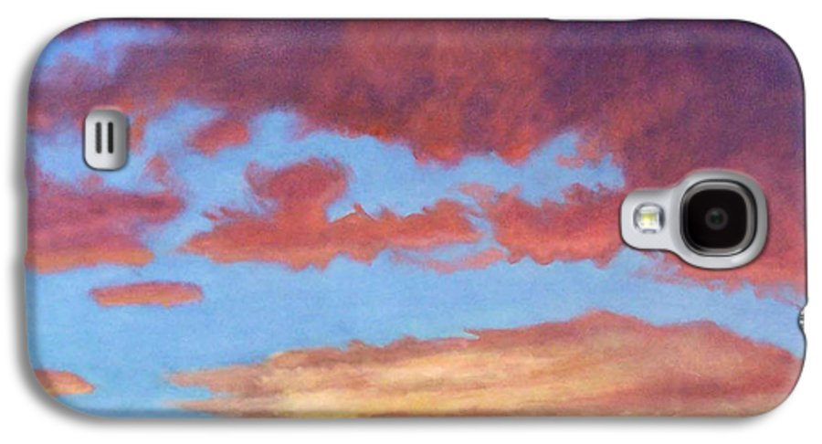 Sunset Galaxy S4 Case featuring the painting El Dorado Sunset by Brian Commerford