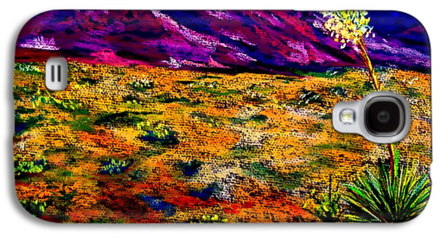 Yucca Galaxy S4 Case featuring the painting El Paso by Melinda Etzold