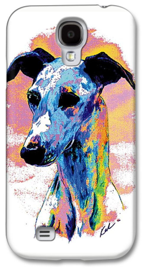 Electric Whippet Galaxy S4 Case featuring the digital art Electric Whippet by Kathleen Sepulveda