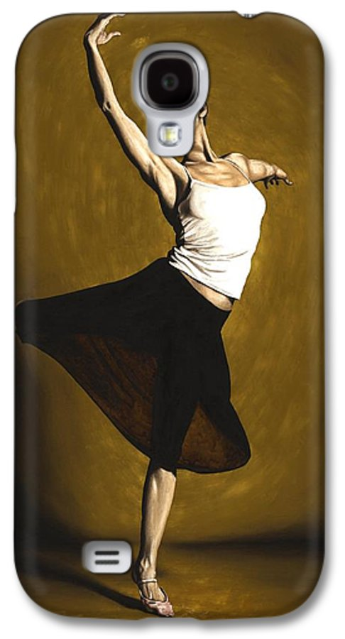 Elegant Galaxy S4 Case featuring the painting Elegant Dancer by Richard Young
