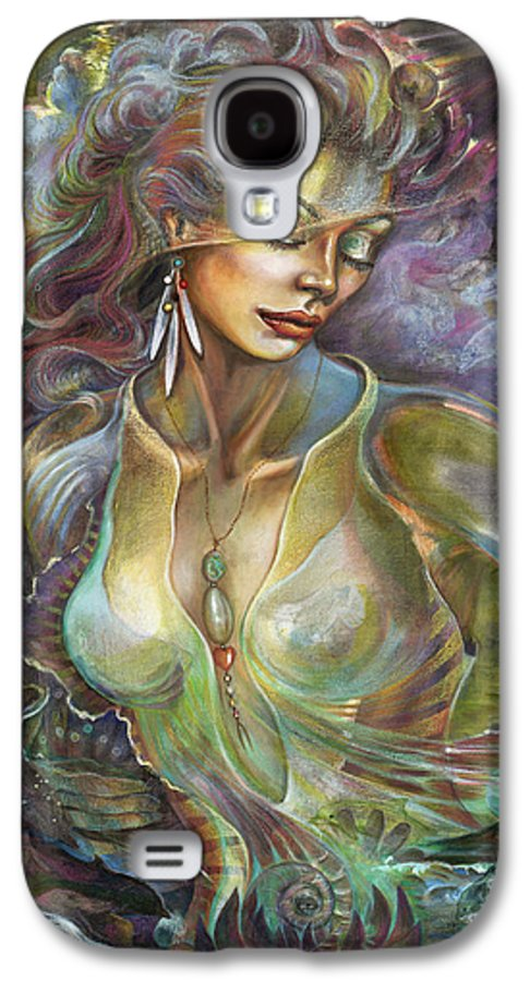 Elements Galaxy S4 Case featuring the painting Element Air by Blaze Warrender