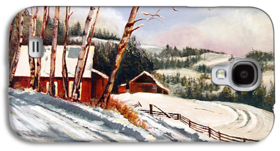 Snow Galaxy S4 Case featuring the painting Elephant Mountain Ranch by Susan Moore