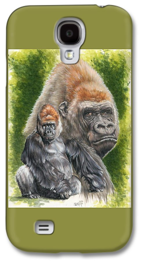 Gorilla Galaxy S4 Case featuring the mixed media Eloquent by Barbara Keith