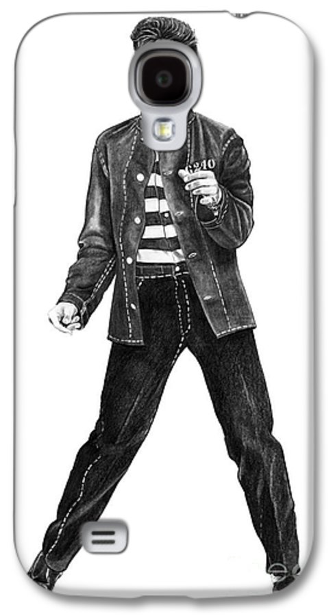 Elvis Galaxy S4 Case featuring the drawing Elvis Presley  by Murphy Elliott