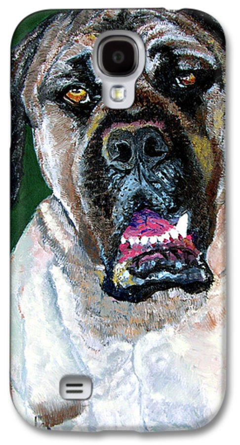 Dog Portrait Galaxy S4 Case featuring the painting Ely by Stan Hamilton