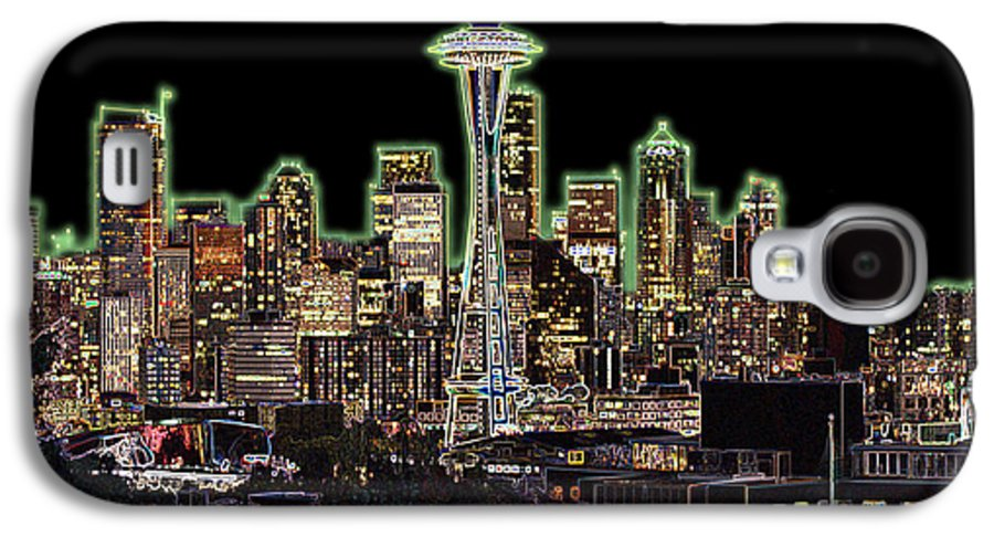 Colorful Galaxy S4 Case featuring the photograph Emerald City by Larry Keahey