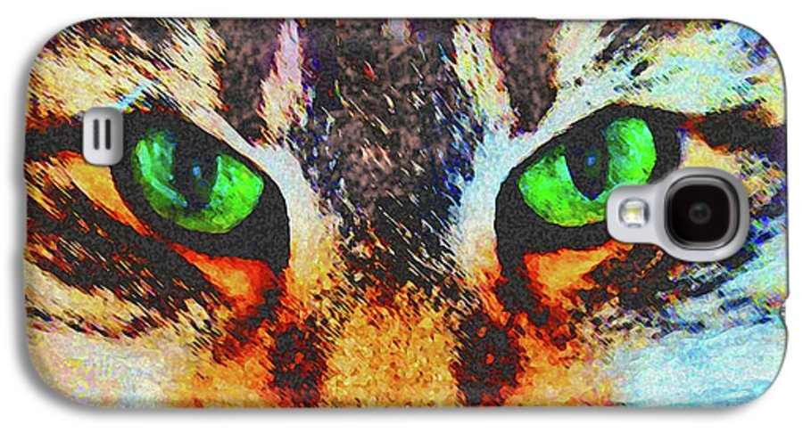 Emerald Gaze Galaxy S4 Case featuring the digital art Emerald Gaze by John Beck