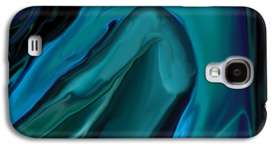Abstract Galaxy S4 Case featuring the digital art Emerald Love by Rabi Khan