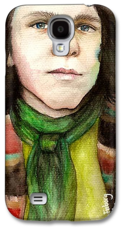 Boy Galaxy S4 Case featuring the drawing Emil by Freja Friborg