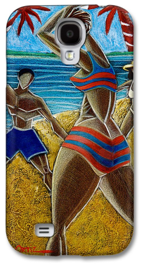 Beach Galaxy S4 Case featuring the painting En Luquillo Se Goza by Oscar Ortiz