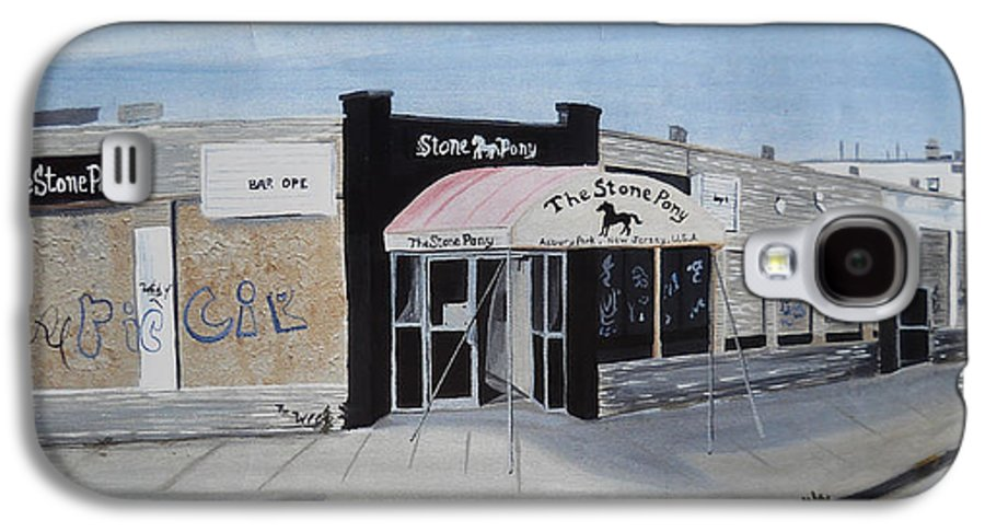 Acrylic Painting Of The Stone Pony Galaxy S4 Case featuring the painting End Of An Era by Patricia Arroyo