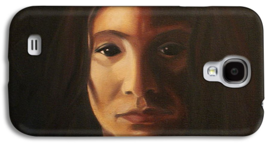 Woman In The Dark Galaxy S4 Case featuring the painting Endure by Toni Berry