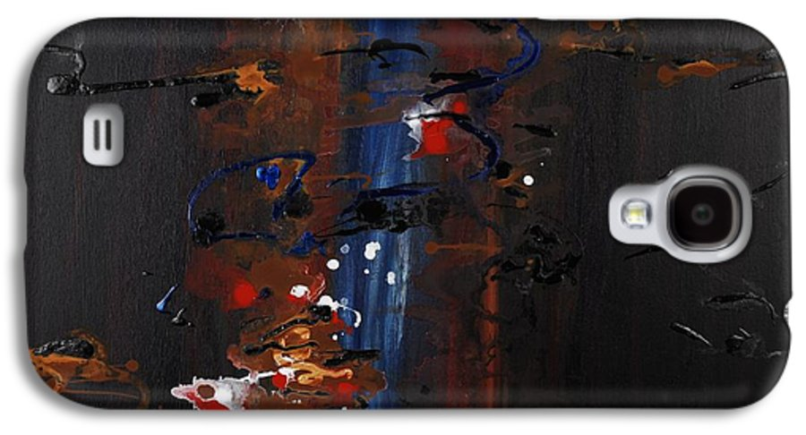 Black Galaxy S4 Case featuring the painting Energy by Nadine Rippelmeyer
