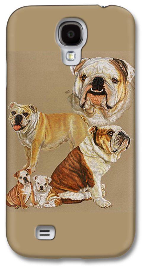 Purebred Galaxy S4 Case featuring the drawing English Bulldog by Barbara Keith
