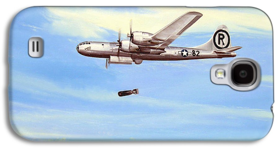 Military Galaxy S4 Case featuring the painting Enola Gay by Marc Stewart