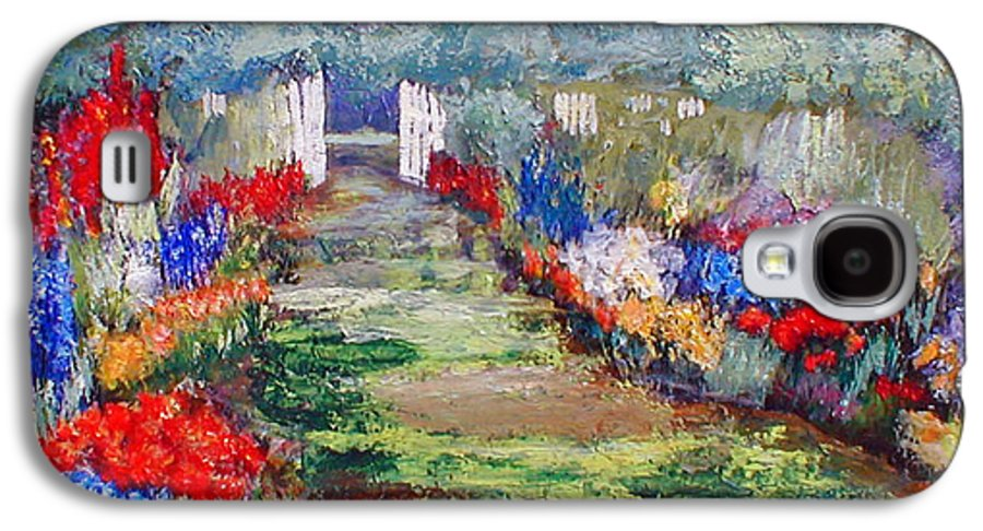 Landscape Galaxy S4 Case featuring the painting Enter His Gates by Gail Kirtz