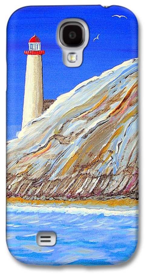 Lighthouse Galaxy S4 Case featuring the painting Entering The Harbor by J R Seymour
