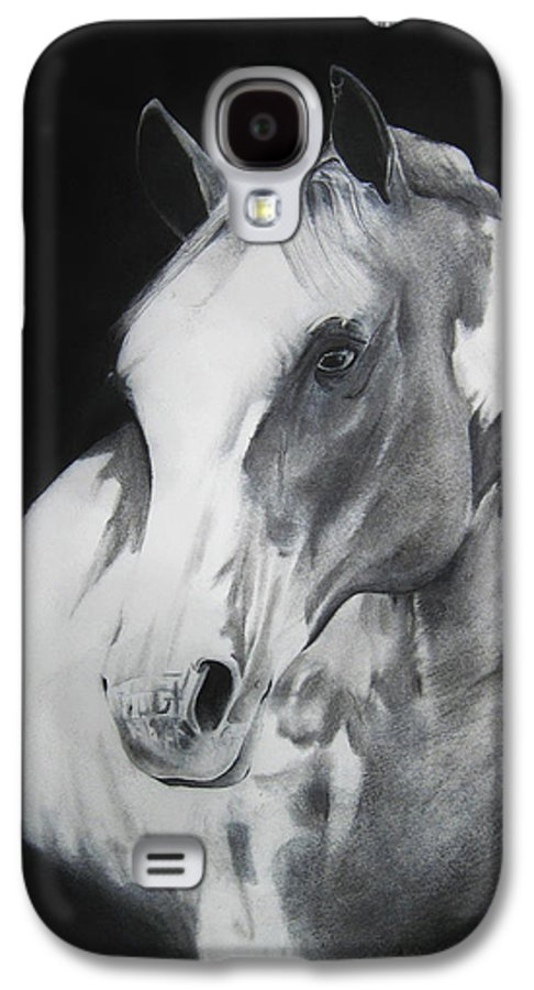 Horse Galaxy S4 Case featuring the drawing Equestrian Beauty by Carrie Jackson