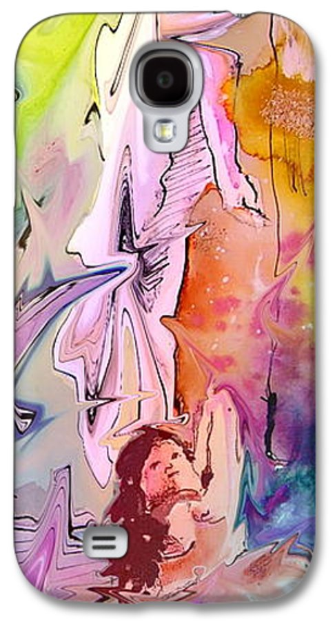Miki Galaxy S4 Case featuring the painting Eroscape 09 1 by Miki De Goodaboom