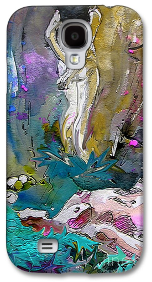 Miki Galaxy S4 Case featuring the painting Eroscape 1104 by Miki De Goodaboom