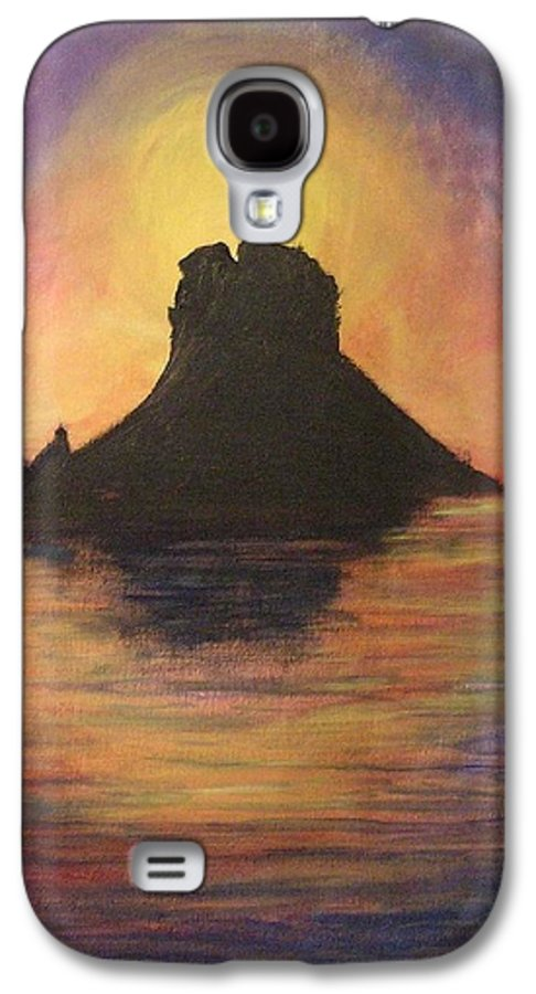 Sunset Galaxy S4 Case featuring the painting Es Vedra Sunset I by Lizzy Forrester