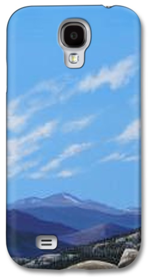 Estes Park Galaxy S4 Case featuring the painting Estes Overlook by Hunter Jay