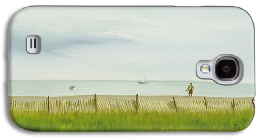 Seascape Galaxy S4 Case featuring the painting Evening At Cape May by Lea Novak